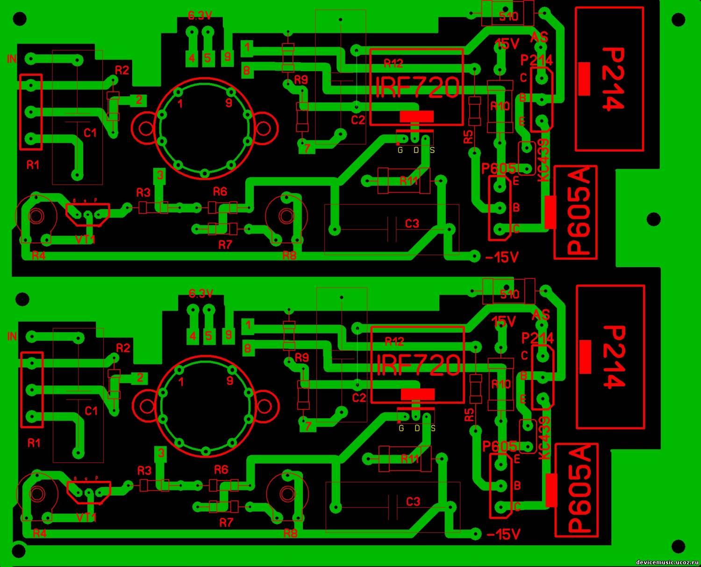 Схемы усилители для наушников с печатной платой